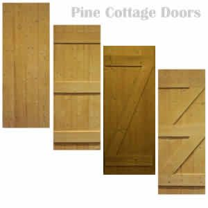 Pine ledged and braced internal doors