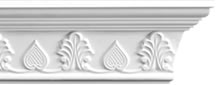 Acorn and Leaf Plaster Coving 60mm x 100mm