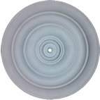 Small Traditional Plain Plaster Ceiling Rose 370mm