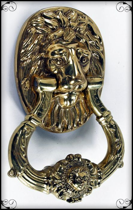 The Carlisle Lion Brass Door Knocker
