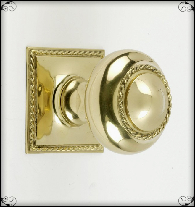 The Georgian Brass Door Knob