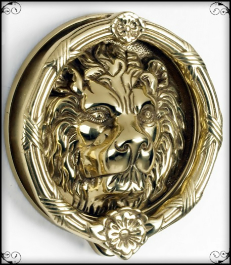 The Penrith Lion Brass Door Knocker