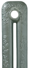 Pewter Painted Cast Iron Radiator