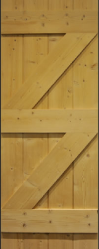 Pine Cottage Door Ledge and 2 Brace Unfinished