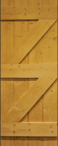 Oak Cottage door ledge and 2 brace waxed